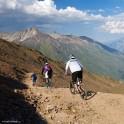 Russia. South Elbrus. Mt.Cheget slopes. Riders - Nikoloay Pukhir, Petr Vinokurov and Vitaliy Khripunov. Photo: Ludmila Zvegintseva