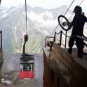 "Russia. South Elbrus. Nikolay Pukhir at ""Mir"" gondola station. Photo: Ludmila Zvegintseva"