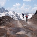 Russia. Southern slope of Elbrus. Riders - Nikolay Pukhir and Vitaliy Khripunov. Photo: Ludmila Zvegintseva