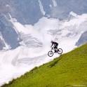 Russia. Southern slope of Elbrus. Rider - Nikolay Pukhir. Photo: Ludmila Zvegintseva