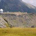 Russia. Southern slope of Elbrus. The Terskol Astrophysical Observatory. Riders - Nikolay Pukhir and Vitaliy Khripunov. Photo: Ludmila Zvegintseva