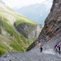 Russia. South Elbrus. Gara-Bashi valley. Riders - Nikolay Pukhir and Vitaliy Khripunov. Photo: Ludmila Zvegintseva