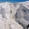 Russia. North face of Elbrus. Glacier. Photo: heli GoPro