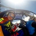 """Russia. North face of Elbrus. Rider Nikolay Pukhir. Heliaction company's helicopter """"Lama"""" - pilot Alexander Davydov. Photo: GoPro selfie"""