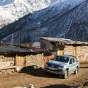Elbrus region. Terskol village. RTP project official car - VW Amarok Atakama. Photo by Daria Pudenko