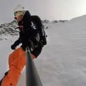 Elbrus region. Cheget massive. Rider - Konstantin Galat. Selfie