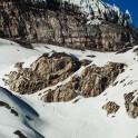 Elbrus region. Mt.Elbrus, Terskol glacier. Rider - Konstantin Galat. Photo by Sergey Puzankov