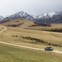 Russia, Caucasus. Road from Bylim to Chegem valley. RTP official car - VW Amarok Atakama. Photo by Daria Pudenko
