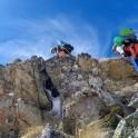 Russia, Caucasus, Elbrus region. Valley Medvezhie. RTP riders climb to start-point on the ridge. Photo by Aleksander Ilyin