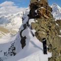 Russia, Caucasus, Elbrus region. Valley Medvezhie ridge. Couloir start-point. Photo by Konstantin Galat