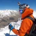 Russia, Caucasus, Elbrus region. Mt.Cheget. Rider Kirill Anisimov at start-point. Photo by Konstantin Galat