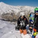 Russia, Caucasus, Elbrus region. Mt.Cheget north slopes. RTP riders Konstantin Galat and Igor Ilynikh. Photo by Aleksander Ilyin