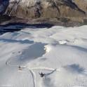 Russia, Caucasus, Elbrus region. Mt.Cheget north slopes. RTP riders - Konstantin Galat, Aleksander Ilyin and Igor Ilynikh. Photo by Oleg Kolmovskiy (drone)