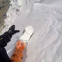 Russia, Caucasus, Elbrus region. Mt.Cheget north slopes. Rider - Konstantin Galat. Photo from helmet GoPro