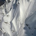 Russia, Caucasus, Elbrus region. Mt.Cheget north slopes. Rider - Konstantin Galat. Photo by Oleg Kolmovskiy (drone)