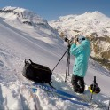 Russia, Caucasus. Filming on Mt.Cheget. RTP cameraman - Oleg Kolmovskiy.