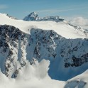 Russia, Caucasus, Elbrus region. Georgian mountains and borderline view from South Cheget ridge. Photo by Sergey Puzankov