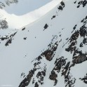Russia, Caucasus, Elbrus region. Valley Medvezhie. New freeride route - rider Idris Uzdenov. Photo by Sergey Puzankov
