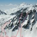 Russia, Caucasus, Elbrus region. Valley Medvezhie. New RTP freeride routes. Photo by Sergey Puzankov