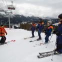 Кавказ. Курорт Архыз. Лыжные занятия для спасателей курорта. Фото - Андрей Британишский