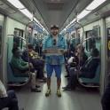 Казахстан. Александр Ильин в метро Алматы. Фото - Данила Ильющенко