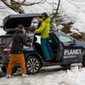 Абхазия. Заброска команды на плато Мамзышха. Subaru Outback – официальный автомобиль проекта RideThePlanet. Фото – Сергей Пузанков