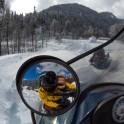 Абхазия. Снегоходная заброска на плато Мамзышха. Селфи-фото – Сергей Пузанков