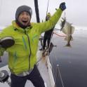 "Северная Норвегия. Заполярный регион Nord Norge. Яхта ""Alter Ego"". Александр Ильин ловит треску. Фото - Константин Галат"