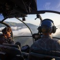 Абхазия. Вертолет Alouette, пилот Сергей Навроцкий и автор проекта RTP Константин Галат. Фото – Петр Винокуров