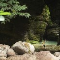 Западная Абхазия. Каньон реки Хашупсе. Видеооператор проекта RTP Артем Кузнецов. Фото – Константин Галат