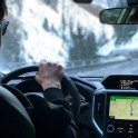 Италия. Регион Ливиньо. Константин Галат за рулем Subaru Forester - официального авто проекта RideThePlanet. Фото – Владимир Горлов