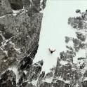 Грузия, регион Верхняя Рача. Райдер Константин Галат на старте в одном из кулуаров. Фото – Сергей Потапенко