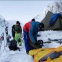 Грузия, регион Верхняя Рача. Базовый лагерь команды RideThePlanet в долине массива Доломиситсвери. Фото – Владимир Горлов