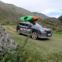 Горный Алтай. Заброска для сплава по Мажойскому каньону на реке Чуя. Subaru Forester - официальный авто проекта RTP. Фото - Константин Галат