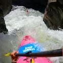 Горный Алтай. Каскад водопадов на реке Куркуре. Каякер - Андрей Пестерев. Фото - GoPro