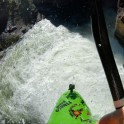 Горный Алтай. Каскад водопадов на реке Куркуре. Каякер Сергей Ильин. Фото - GoPro