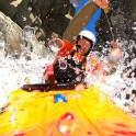 Горный Алтай. Каскад водопадов на реке Куркуре. Каякер - Иван Козлачков. Фото - GoPro